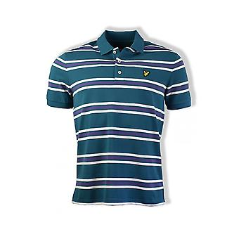 Lyle & Scott Multi Stripe Polo Shirt (Petrol Teal)