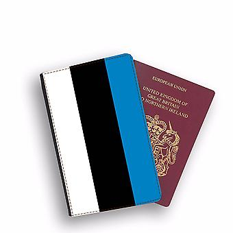 ESTONIA Flag Passport Holder Style Case Cover Protective Wallet Flags design