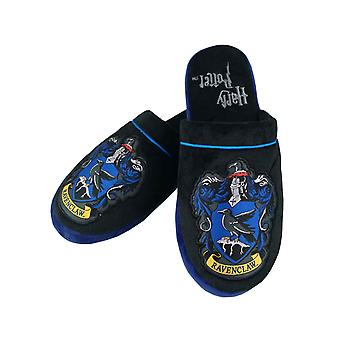 Harry Potter Slippers Ravenclaw House Crest Logo new Official Black