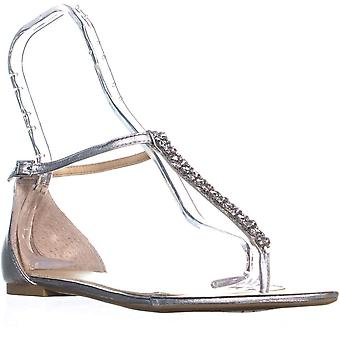 BADGLEY MISCHKA Womens Gabby Split Toe Casual Ankle Strap Sandals