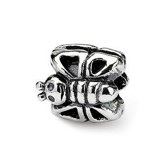 925 Sterling Silver Leštené odrazy Deti Butterfly Angel Wings Bead Charm Prívesok Náhrdelník Šperky Darčeky pre ženy