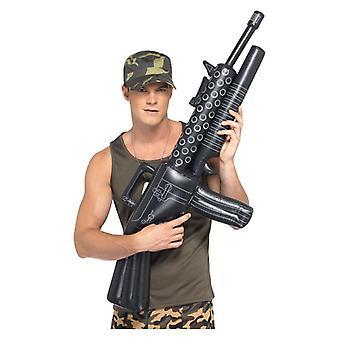 Opblaasbare machinegeweer Fancy Dress accessoire