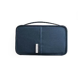 RFID Protection-Blue Universal Travel portefeuille Affaire Passeport