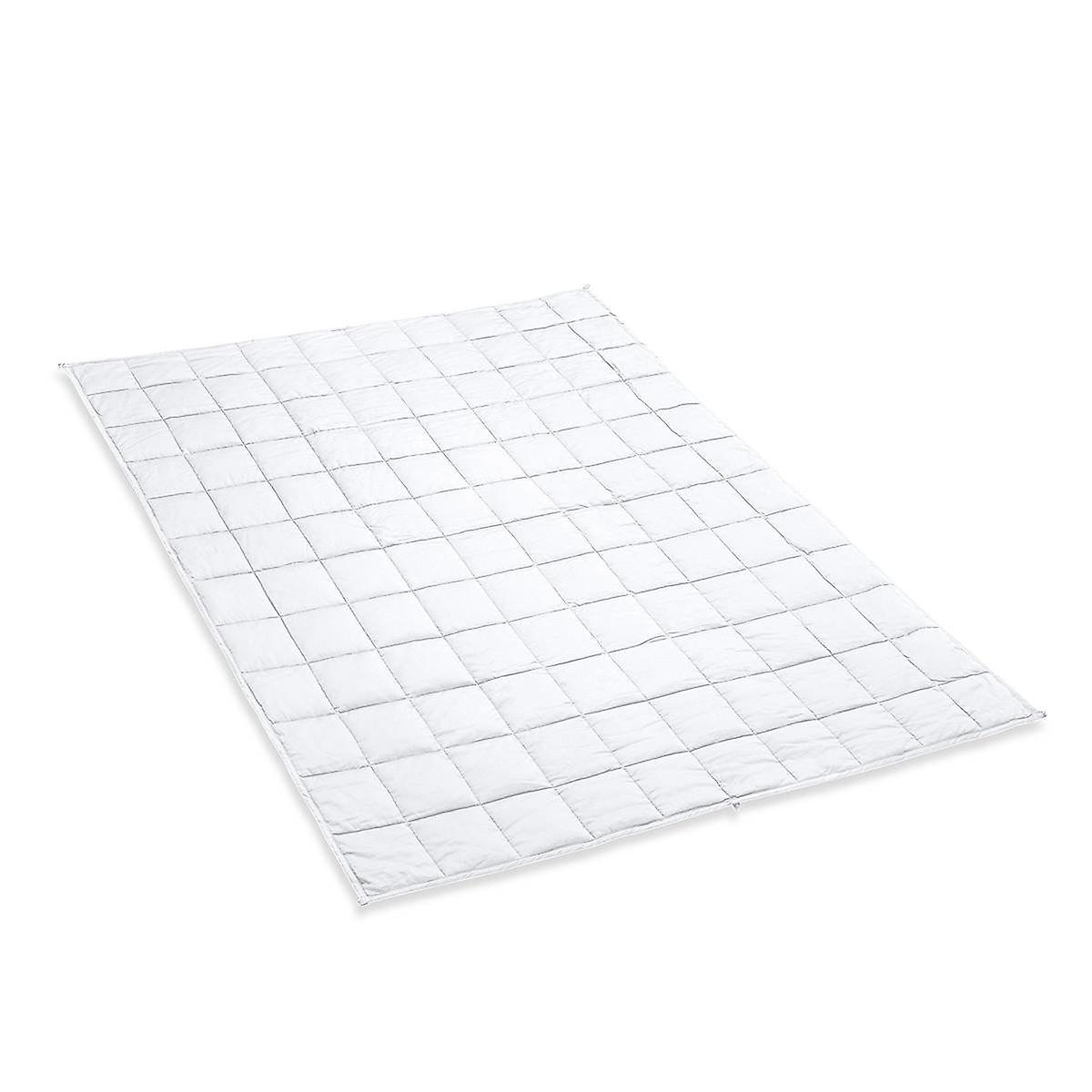 Snipe pondéré Couverture 7 kg satin de coton blanc - exempt de polyester