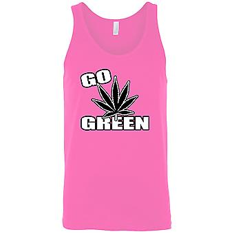 F1238PX - Hombres's GO Camiseta De tanque verde