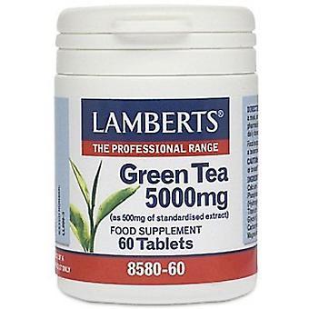 LAMBERTS vihreä tee 5000mg väli lehdet 60 (8580-60)