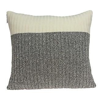 Casual Square Gray and Tan Accent Pillow Cover