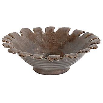 Ceramic Plate, Brown