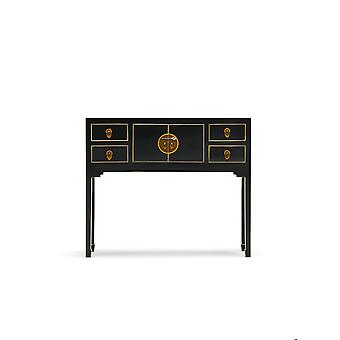 The Nine Schools Qing Black and Gilt Small Console Table - Baumhaus