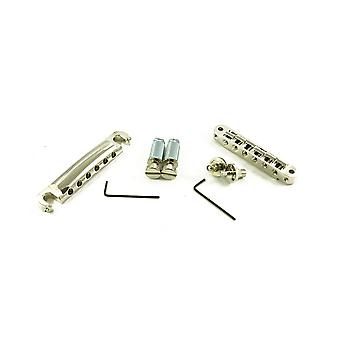 TonePros Locking Tune-o-matic/tailpiece Set (small Posts/unnotched Saddles)