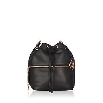 Cartmel Leather Duffle Bag in Black
