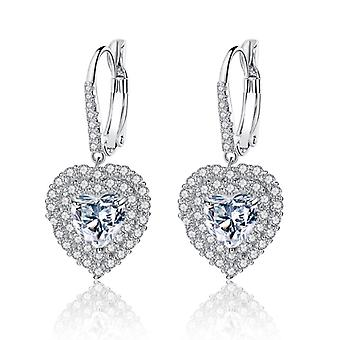Choice of crystal droplet heart earrings