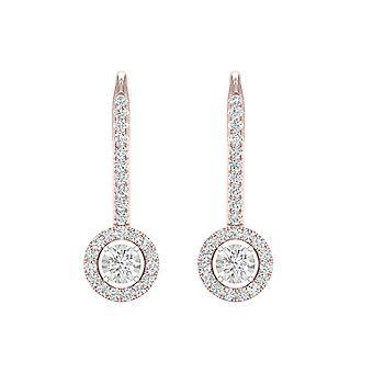 IGI-Certified-decouer-1/4-CT-TDW-Diamond-10k-Rose-Gold-Diamond-Frame-Drop-Earrings-(h-i,-i2)