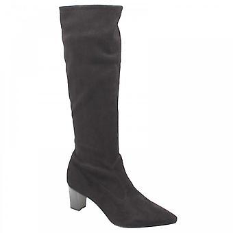 Peter Kaiser Marabella Black Suede Long Boots