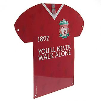 Liverpool FC skjorte formet metall skilt