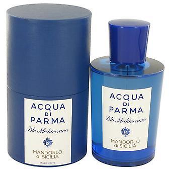 Blu mediterraneo mandorlo di sicilia eau de toilette spray por acqua di parma 465282 150 ml