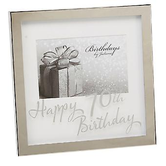 Widdop Birthdays By Juliana Happy 70th Birthday Mirror Print Box Frame