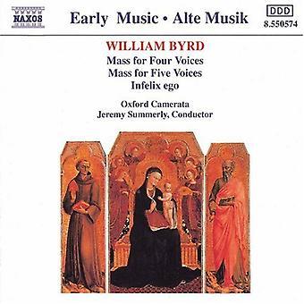 W. Byrd – Byrd: Massa neljä ääniä; Massa viisi ääntä; Infelix Ego [CD] Yhdysvallat tuoda