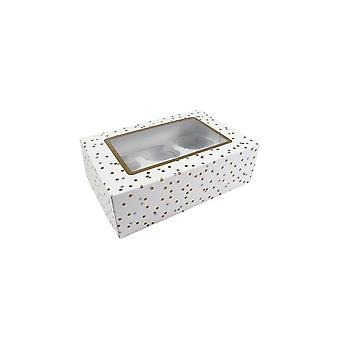 Culpitt Metallic Spot 6 Or 12 Cupcake/Muffin Box