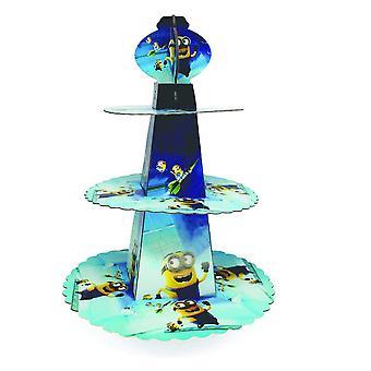 Minnions Theme vikbar kartong 3-tier cupcake Stand