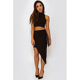 Celeb Inspired Draped Asymmetric Skirt