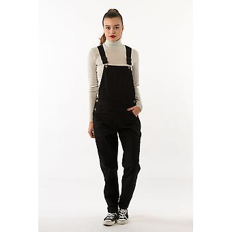 Amanda womens carrot fit  black dungarees
