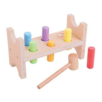 Bigjigs Toys Wooden My First Hammer Bench Play Set Toy