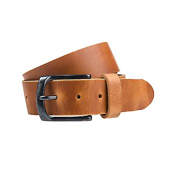Cognac Pull-Up Jeans Belt - 40 Mm Wide