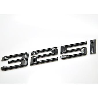 Kiiltävä Musta BMW 325i AutoMalli Takasaappaan numero Tarra TarraMerkki Tunnus 3-sarja E36 E46 E90 E91 E92 E93 F30 F31 F34 G20