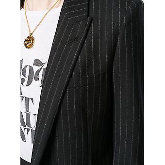 Saint Laurent 517740y127w1070 Women's Black Cotton Blazer