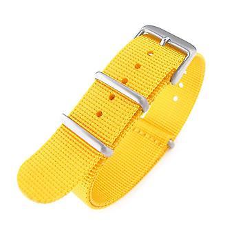 כתפיות n. t. o שעון רצועה 20mm g10 הצבאי שעון הלהקה רצועת ניילון, צהוב, חול, 260mm