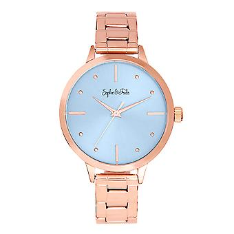 Sophie and Freda Milwaukee Bracelet Watch - Rose Gold/Lavender