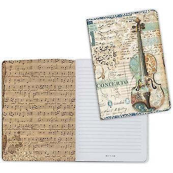 Stamperia Notebook A5 Muziek viool