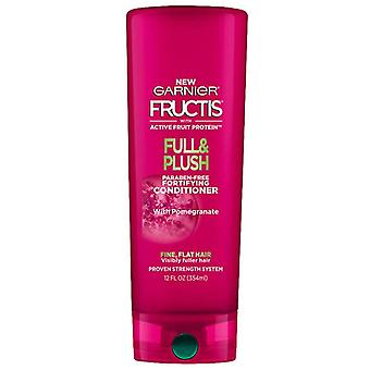 Garnier fructis full & plush fortifying conditioner, 12 oz