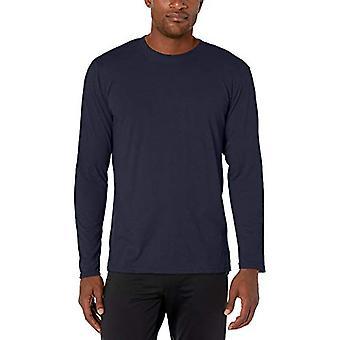 AquaGuard Men's Fine Jersey Long Sleeve, Vintage Smoke/Natural, M