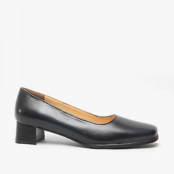 Amblers Walford Ladies Leather Court Shoes Navy