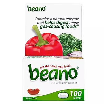 Beano food enzyme dietary supplement, tablets, 100 ea