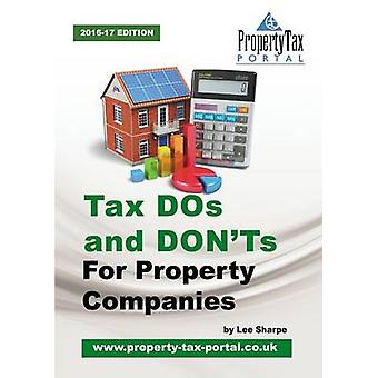 Tax DOs and DONTs for Property Companies by Sharpe & Lee
