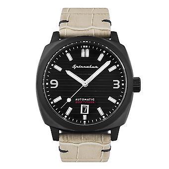 Spinnaker SP-5073-03 Gent-apos;s Hull Black Dial Wristwatch
