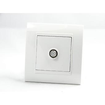 I LumoS AS Luxury White Plastic Arc Single Satellite Socket