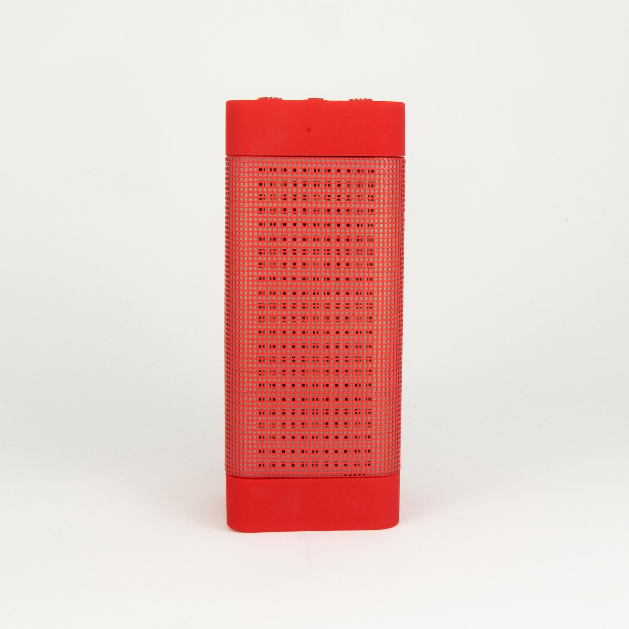 Wireless Bluetooth Speaker with Colorful LED Light Disc Dancing - Red
