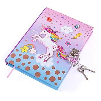 """Hot fokus Unicorn hemmelige dagboken med lås 7"""" Journal notisbok"""