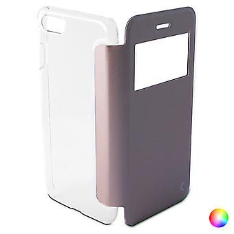 Folio matkapuhelin tapauksessa Iphone 8/7 KSIX Crystal View/Pink