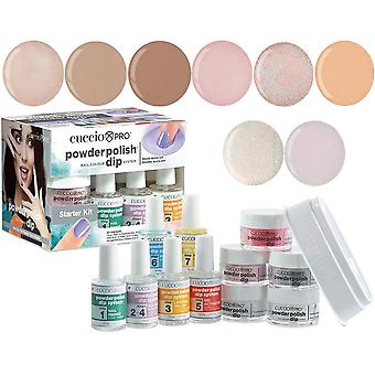 Cuccio Pro Poudre Polonaise Nail Colour Dip System Dipping Powder - Bare Nudity Collection Starter Kit (5024)
