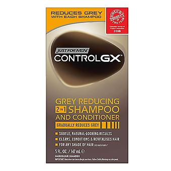 Just for men controlgx grey reducing 2-in-1 shampoo and conditioner, 4 oz