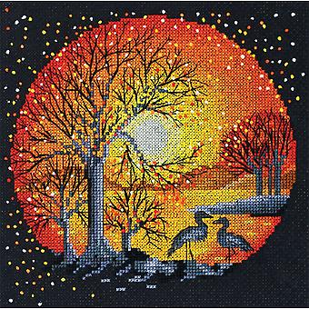 Abris Art Cross Stitch Kit - Heron At Sunset