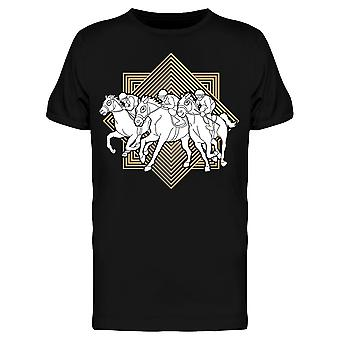 Horse Racing Line Square Tee Men's -Image by Shutterstock
