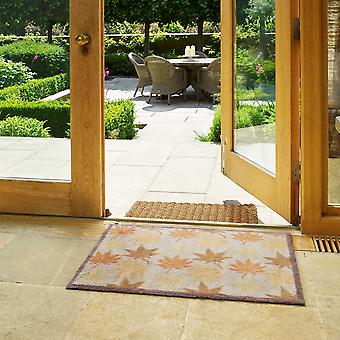 Maple Leaf Doormats In Brown Orange And Cream By Turtlemat