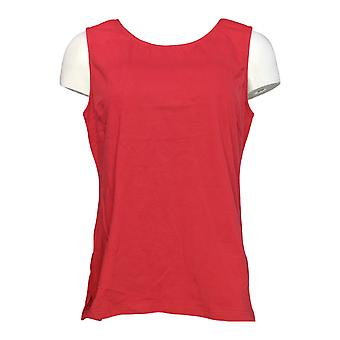 Joan Rivers Classics Collection Women's Top Scoop Neck Tank Red A295141 PTC