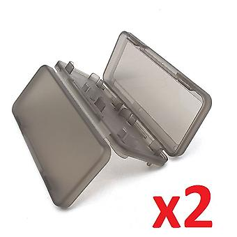 2x Game 4 in 1 Memory Card Black Holder Case Storage Box for Nintendo Switch